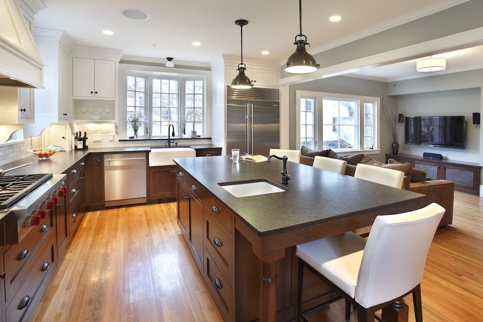 Huppe for a Contemporary Kitchen with a Stainless Steel Appliances and Addition: Kitchen by Kuhl Design Build Llc