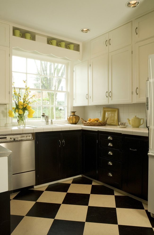 Huppe for a Traditional Kitchen with a Black and White and Traditional Kitchen by Emery & Associates Interior Design