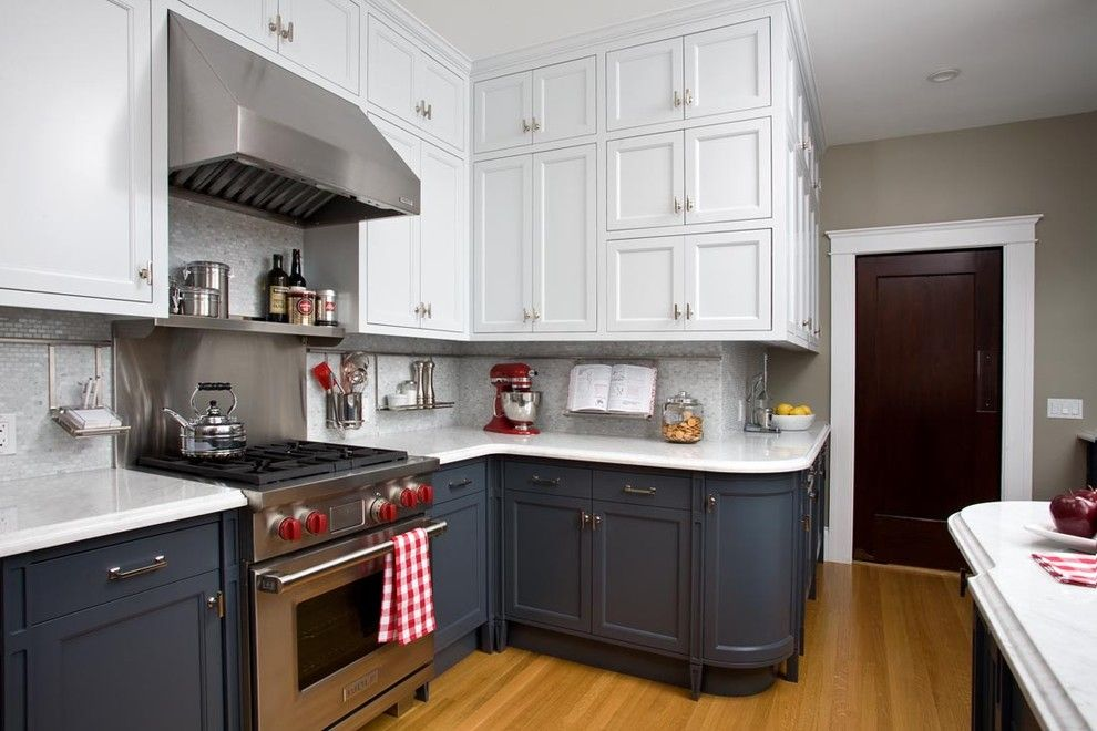 Huppe for a Transitional Kitchen with a Range Hood and Ashbury Heights Victorian's Remodeled Kitchen by Artistic Designs for Living, Tineke Triggs