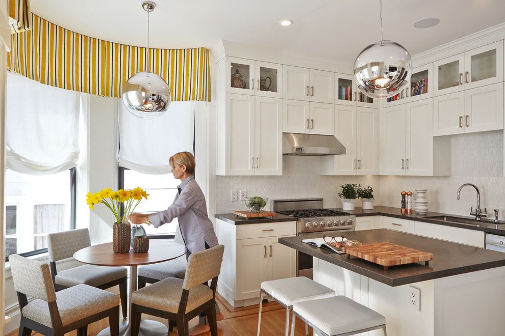 Huppe for a Transitional Kitchen with a Windows and Russian Hill Remodel by Faiella Design