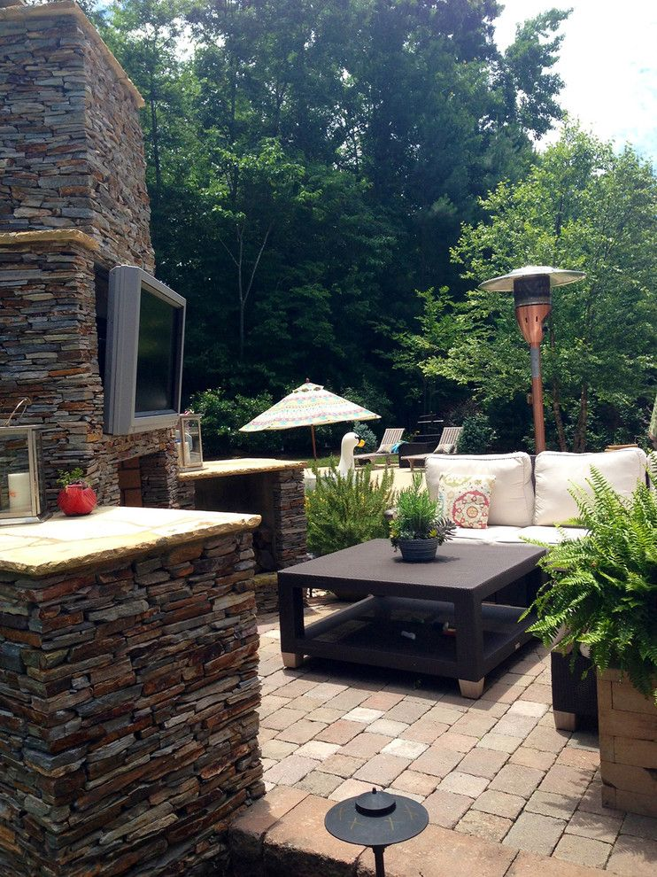 Hyatt Charlotte Nc for a  Patio with a  and Extreme Outdoor Fireplaces and Kitchens Around Charlotte Nc by Archadeck of Charlotte