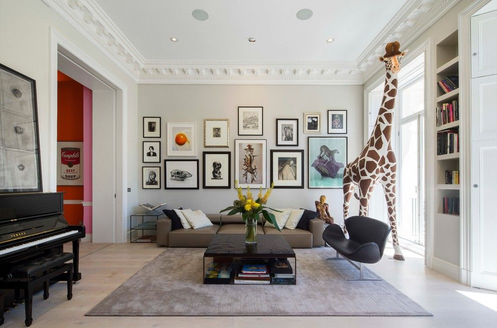 Hyde Park Pittsburgh for a Contemporary Living Room with a Giraffe and Hyde Park Gardens by Hub Architects and Designers Ltd
