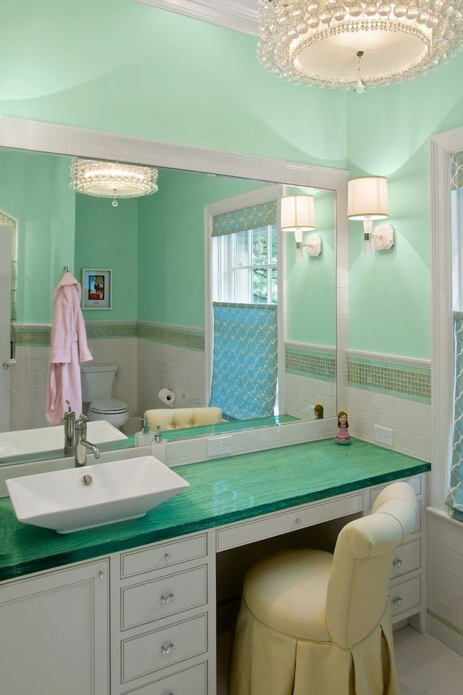 Hyde Park Pittsburgh for a Traditional Bathroom with a Girls Bathroom and Hyde Park Addition & Renovation by Camery Hensley Construction, Ltd