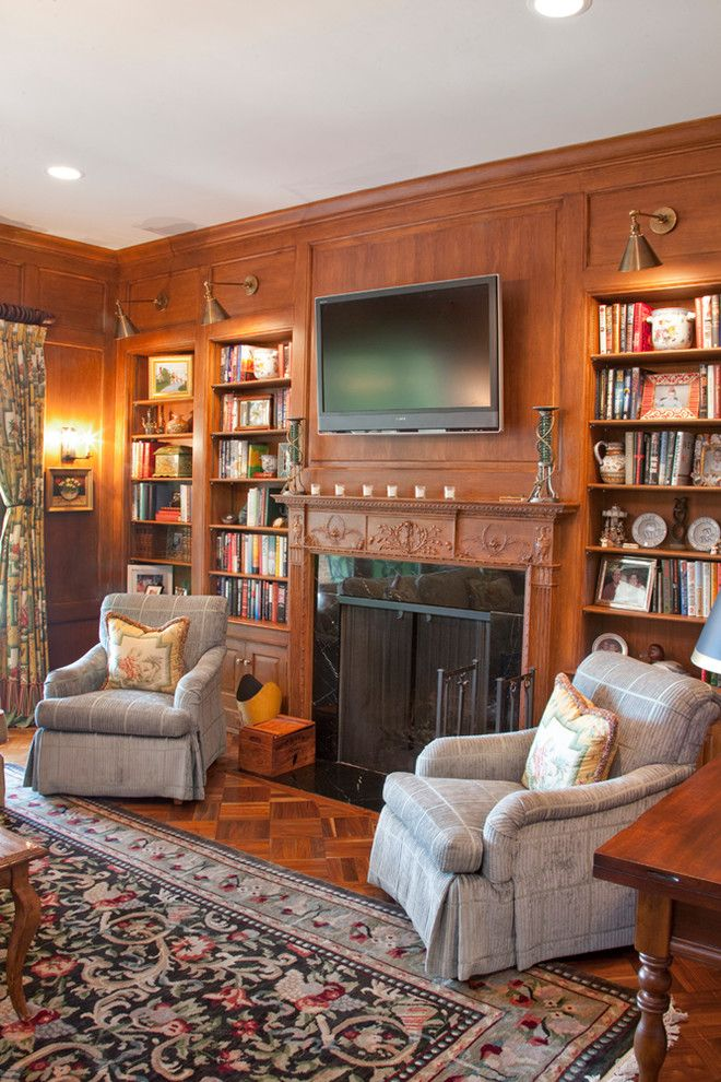 Hyde Park Pittsburgh for a Traditional Home Office with a Carved Fireplace and Hyde Park Addition & Renovation by Camery Hensley Construction, Ltd