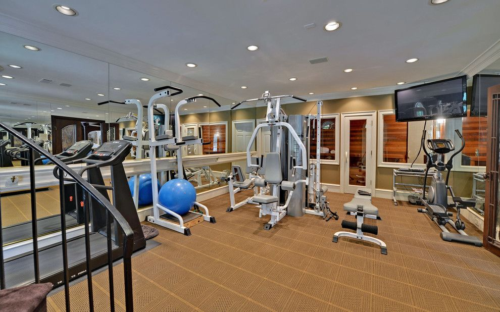 Ibis Golf and Country Club for a Traditional Home Gym with a Custom Homes and St. Ives Country Club Custom Homes by Envision Web