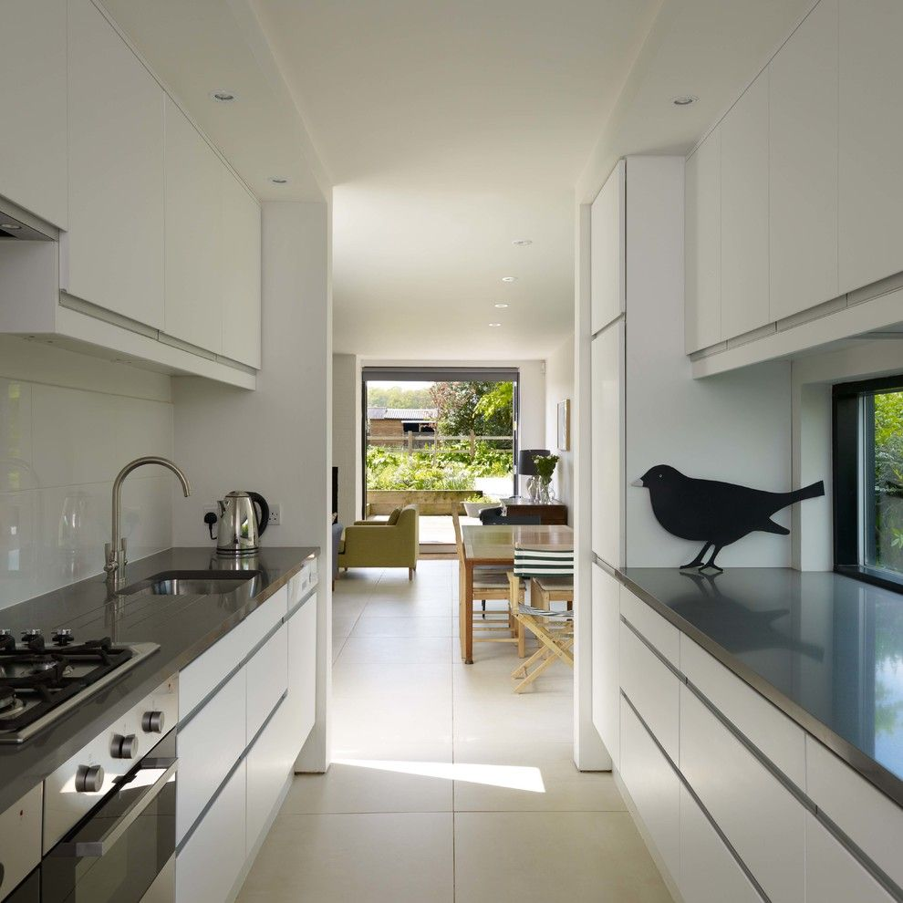 Ikea Assembly Service for a Contemporary Kitchen with a White Kitchen and Old Telephone Exchange by Stephen Turvil Architects