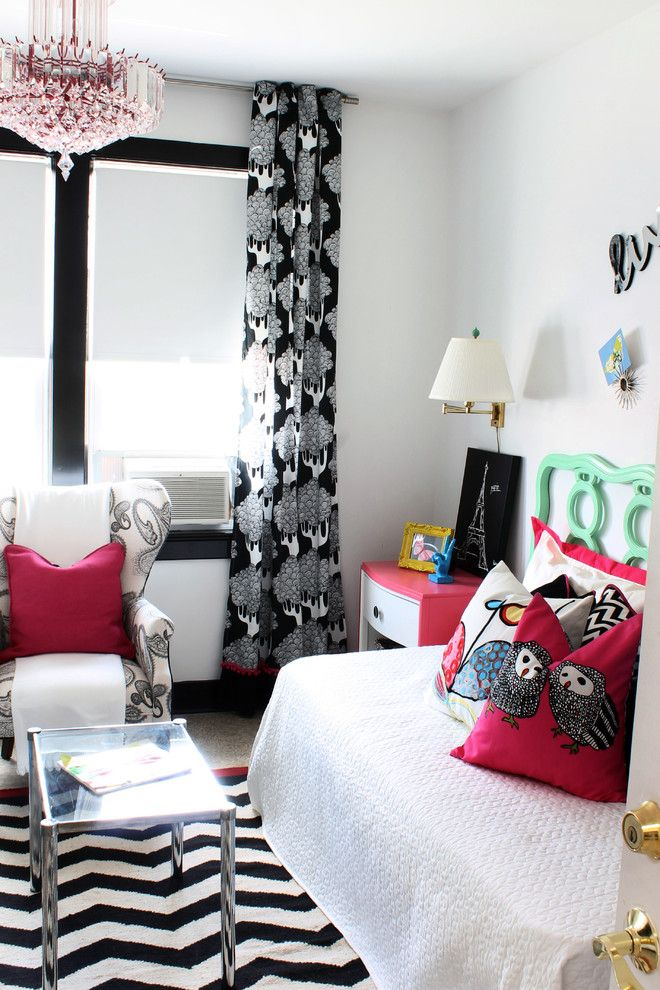 Ikea Assembly Service for a Eclectic Bedroom with a Black Curtains and Rsa 2013  Smith Cottage by Liv by Design Interiors