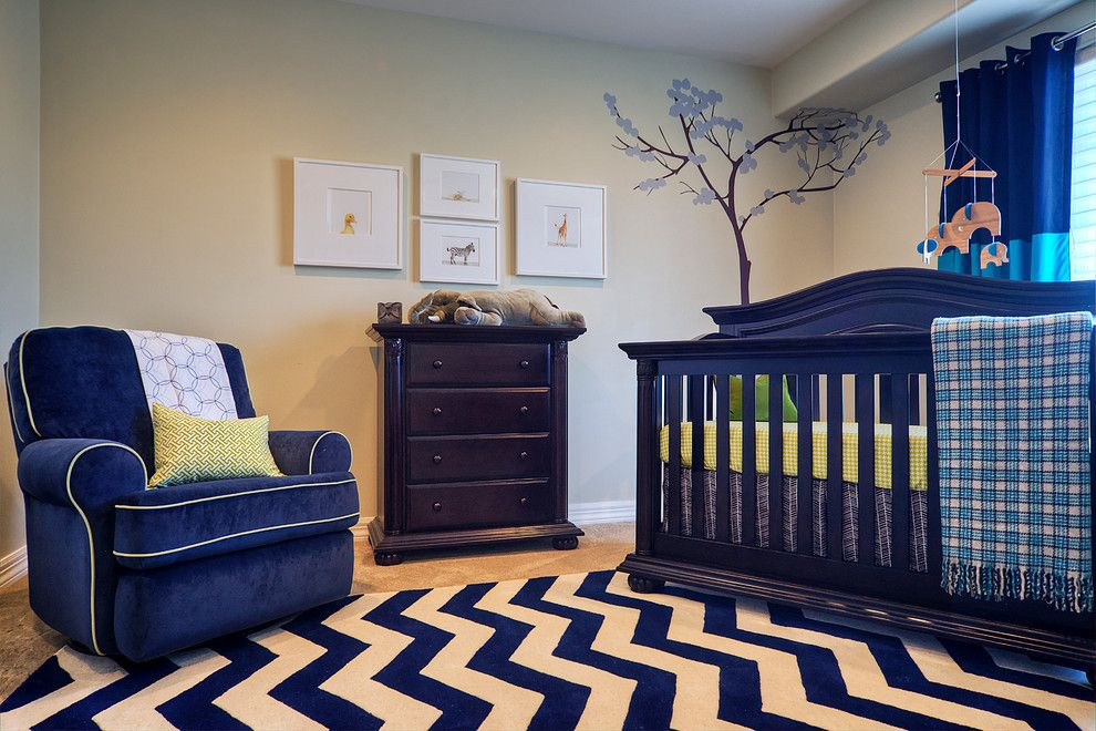 Ikea Assembly Service for a Traditional Nursery with a Patterned Rugs and High Style Nursery by La Casa Azul Design