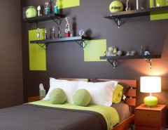 Ikea Brimnes Bed for a Contemporary Kids with a Accent Color and Kids Tennis Theme by DIVA INTERIOR CONCEPTS