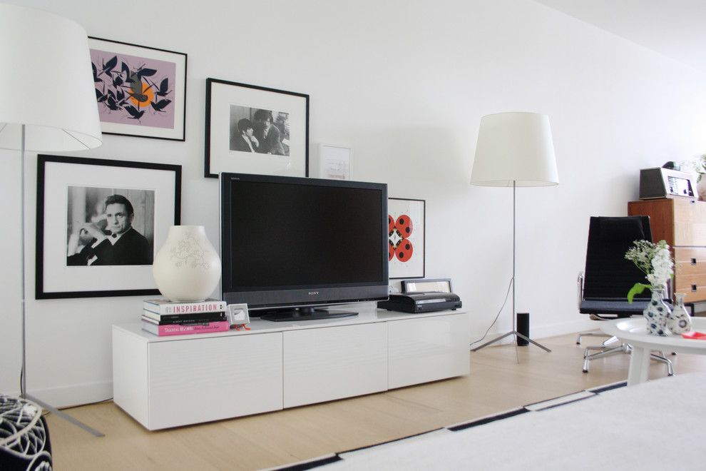 Ikea Canton Mi for a Contemporary Family Room with a Contemporary and the Home of Bianca by Holly Marder