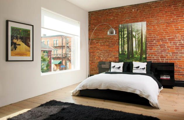 Ikea Cleveland for a Contemporary Bedroom with a Black and Rock Out by Housetrends Magazine