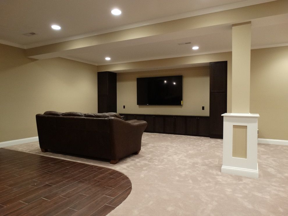 Ikea Cleveland for a Traditional Basement with a Finished Basement and Avon Basement Finish by Odell Construction Inc