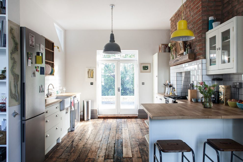 Ikea Dishwasher for a Farmhouse Kitchen with a Double Doors and Photography for Hfm Architects, House Refurbishment, North London by Adelina Iliev Photography