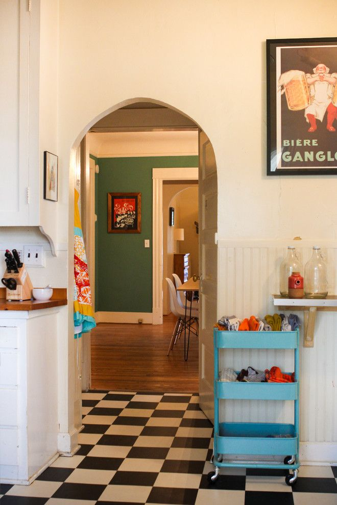 Ikea Hours Seattle for a Eclectic Kitchen with a Thrifty and My Houzz: Eclectic Style Shines in a Victorian Rental by Caela McKeever