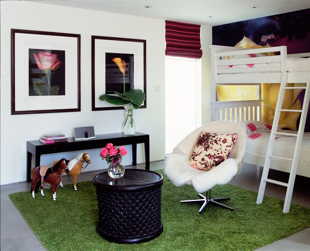Ikea Lack Side Table for a Contemporary Kids with a Wood Side Table and Venice Canals by Katie Leede & Company Studio