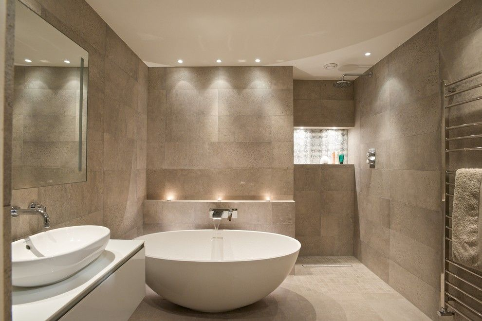 Ikea Led Bulbs for a Contemporary Bathroom with a Bathrooms and Private Residence, Notting Hill Gate by Sian Baxter Lighting Design