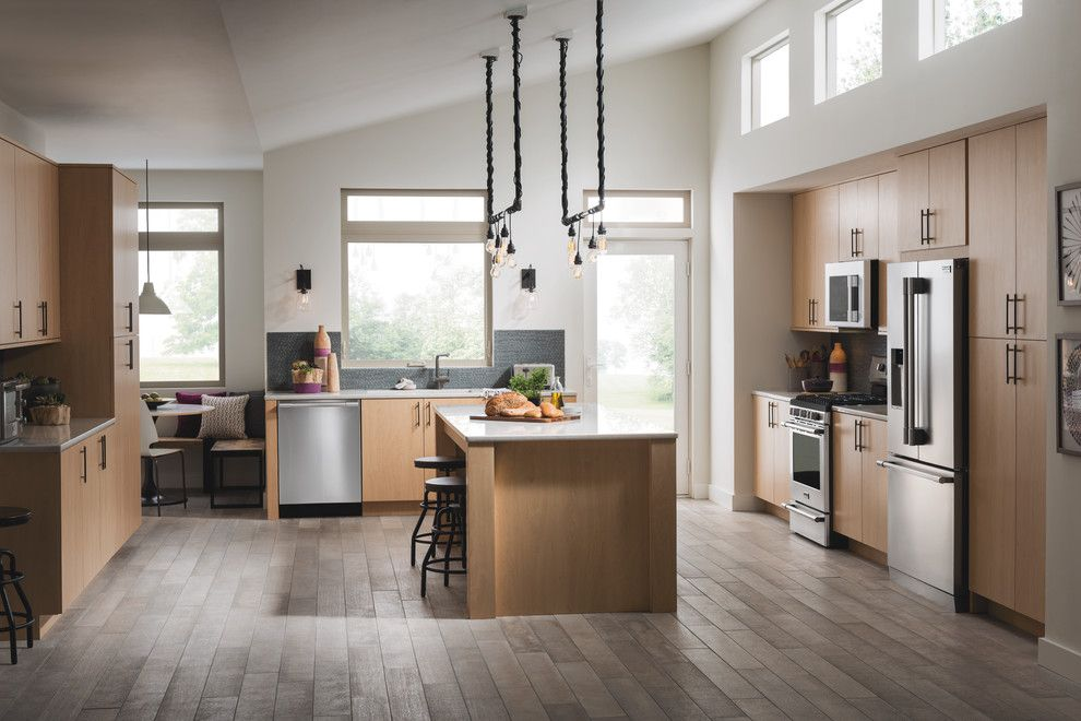 Ikea Led Bulbs for a Contemporary Kitchen with a Clerestory Windows and Frigidaire by Frigidaire®