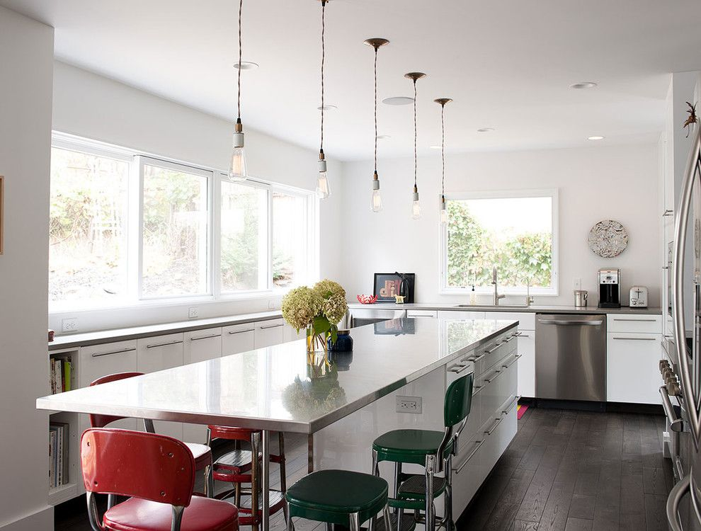 Ikea Led Bulbs for a Contemporary Kitchen with a Pendant Lighting and Linden Hills Remodel by Christian Dean Architecture, Llc