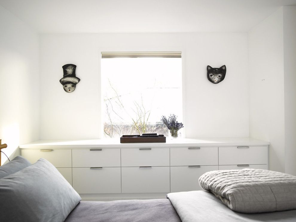 Ikea Malm 6 Drawer Dresser for a Contemporary Bedroom with a Vancouver Architects and Guest Bedroom by Garret Cord Werner Architects & Interior Designers