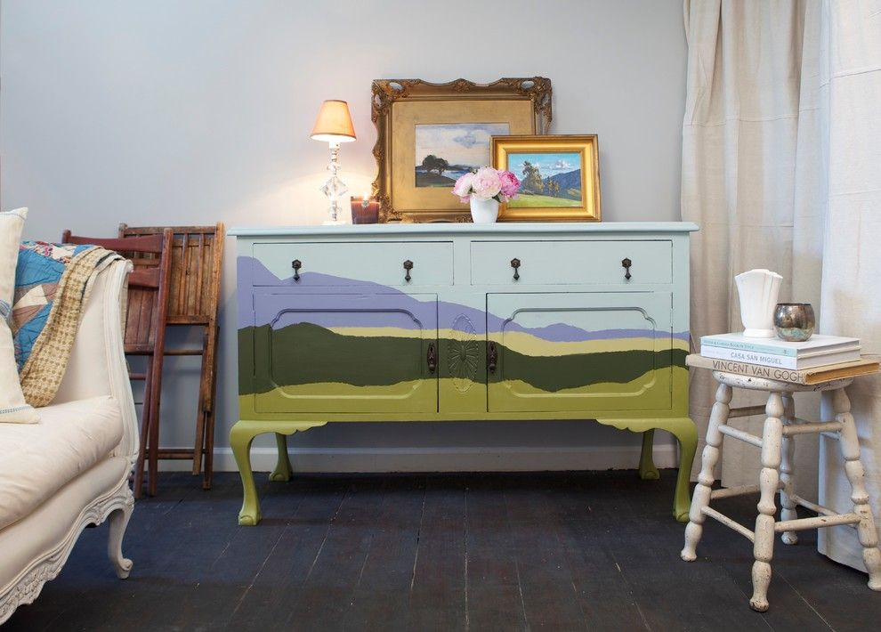 Ikea Malm 6 Drawer Dresser for a Eclectic Living Room with a Painted Dresser and Eclectic Living Room by Diy Network