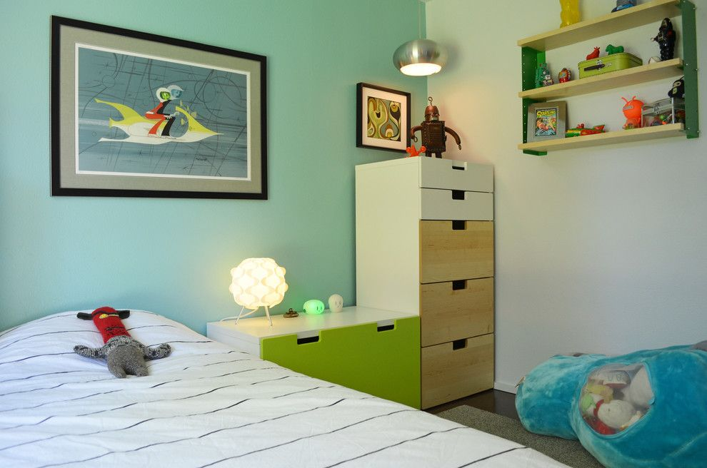 Ikea Malm 6 Drawer Dresser for a Midcentury Kids with a Natural Wood and Dallas, Tx: Stolp by Sarah Greenman