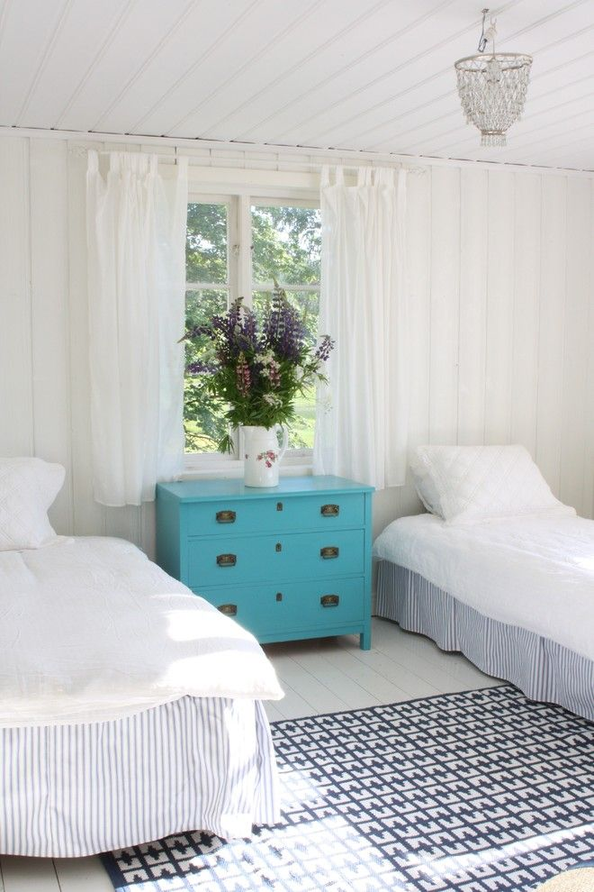 Ikea Malm 6 Drawer Dresser for a Rustic Bedroom with a White Bedding and Jill Sorensen by Jill Sorensen