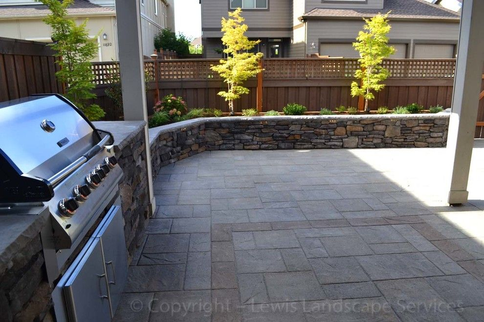Ikea Portland Oregon for a Contemporary Landscape with a Area and Patel Outdoor Living Area Project   2013 by Lewis Landscape Services, Inc.