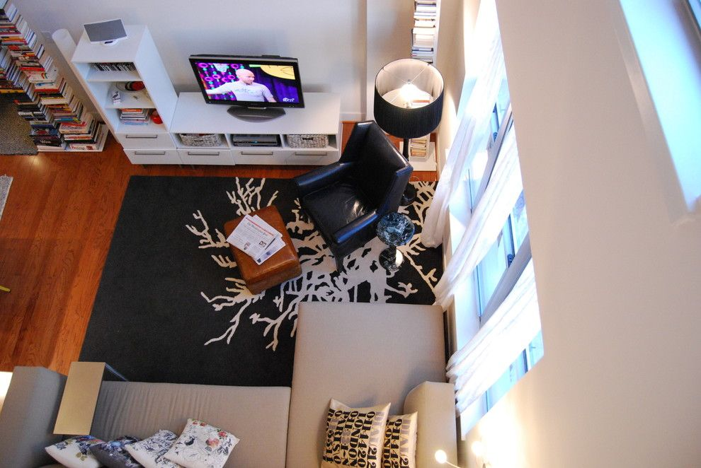 Ikea Rugs Usa for a Contemporary Living Room with a Typography and Nicole Lanteri by Nicole Lanteri Design