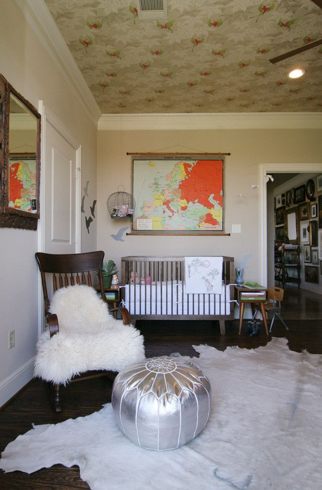 Ikea Rugs Usa for a Eclectic Nursery with a Accent Ceiling and Inspiriation Exploration by Erika Everett Design