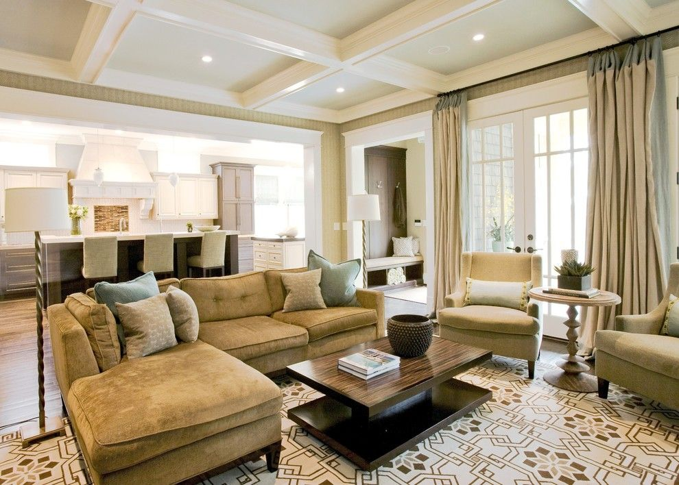 Ikea Rugs Usa for a Traditional Living Room with a Sectional Sofa and Family Room by Brian Watford Interiors
