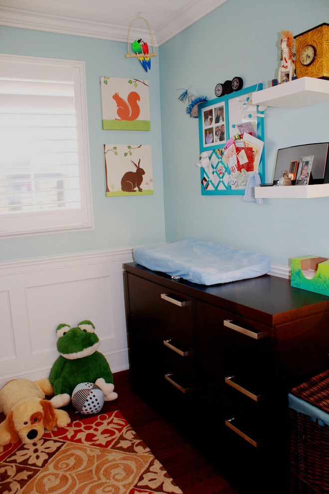 Ikea Sniglar Crib for a Contemporary Kids with a Squirrel and Boy's Nursery by Ejsmont1606