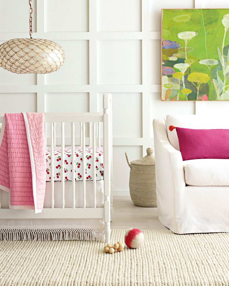 Ikea Sniglar Crib for a Modern Nursery with a Nursery and Nursery by Serena & Lily