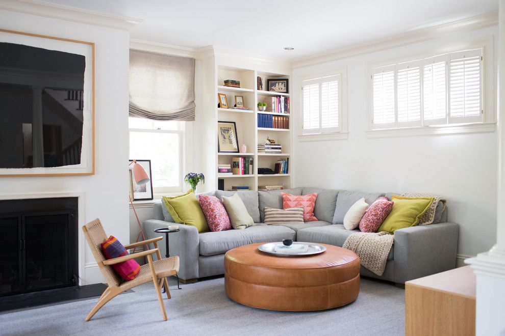 Ikea Stoughton Ma for a Transitional Family Room with a Bookcase and Avon Hill Cambridge, Ma by Davis Scott, Llc