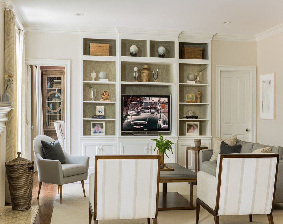 Ikea Stoughton Ma for a Transitional Family Room with a White Chairs and Weston, Ma Residence by Lovejoy Designs