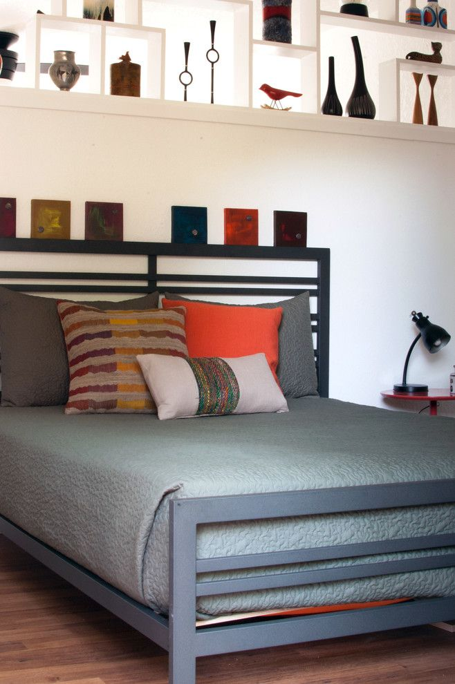 Ikea Sultan Mattress for a Midcentury Bedroom with a Midcentury and My Houzz: Dana Mcgill Perez by Angela Flournoy