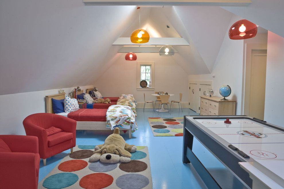 Ikea Twin Cities for a Contemporary Kids with a Sloped Ceiling and House in Darien by Beinfield Architecture Pc