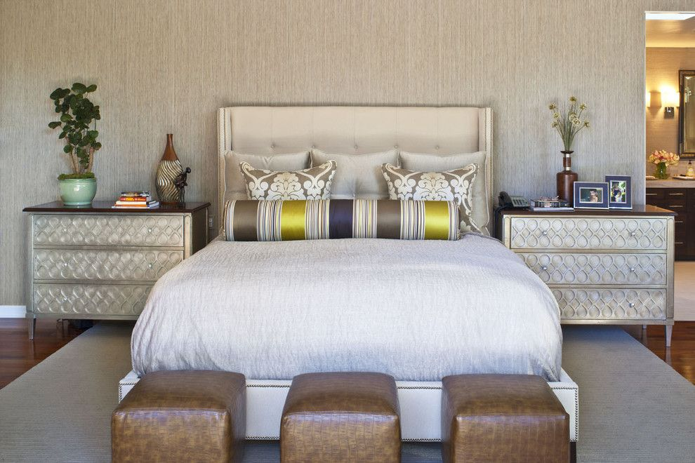 Imarc for a Contemporary Bedroom with a Bed Pillows and Master Bedroom by Dayna Katlin Interiors