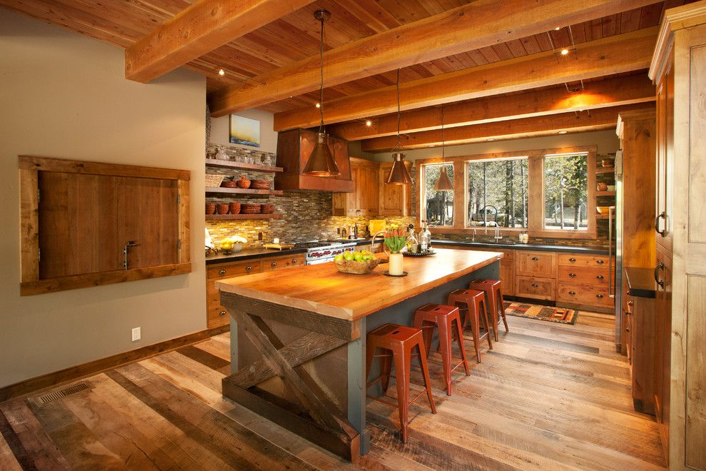 Imarc for a Contemporary Kitchen with a Tile Splash and Sunriver Family Lodge by Scott Gilbride/Architect Inc.