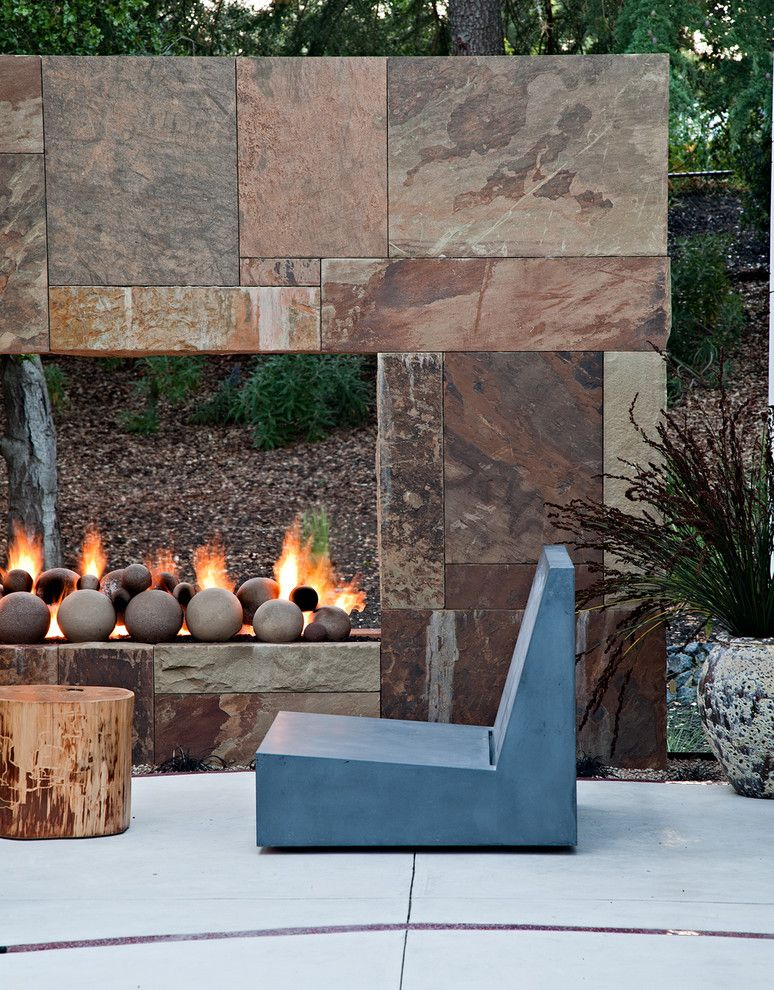 Imarc for a Contemporary Patio with a Concrete and Saratoga Creek House by Wa Design Architects