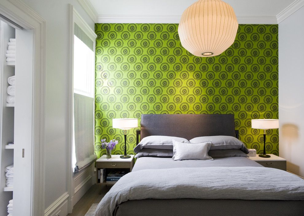 Imarc for a Modern Bedroom with a Wallpaper and Todd Davis Architecture by Todd Davis Architecture