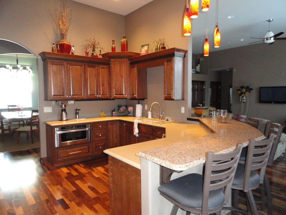 Imax Accessories for a Traditional Kitchen with a Cherry Cabinets and Kitchens by Floor to Ceiling