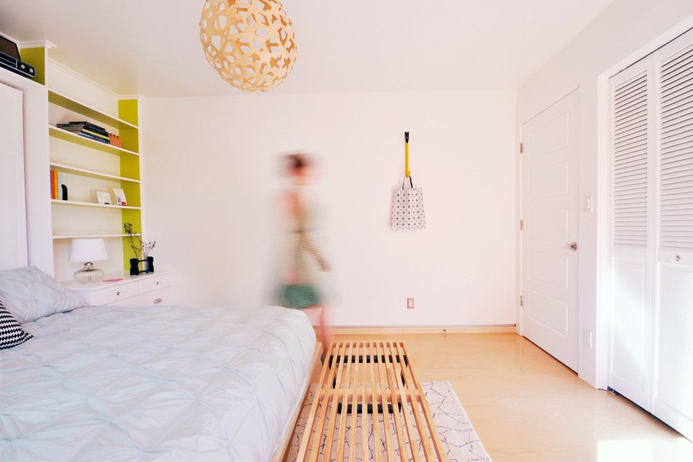 Inck for a Contemporary Bedroom with a Pendant Light and Pine Street Bedroom Remodel by Jen Dalley ||||||||||||||