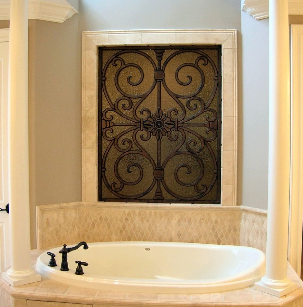 Infiniti Thousand Oaks for a Contemporary Bathroom with a Faux and Faux Iron Overlays in Thousand Oaks CA by the Drapery Guy