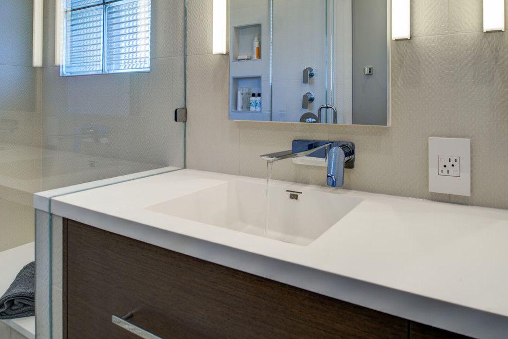 Infiniti Thousand Oaks for a Modern Bathroom with a Baldwin and Berkeley Thousand Oaks Modern Master Bathroom by Design Set Match