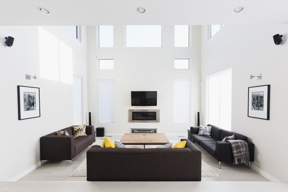 Innotech for a Modern Living Room with a Tilt and Turn Doors and Living Rooms | Window + Door Designs by Innotech Windows + Doors