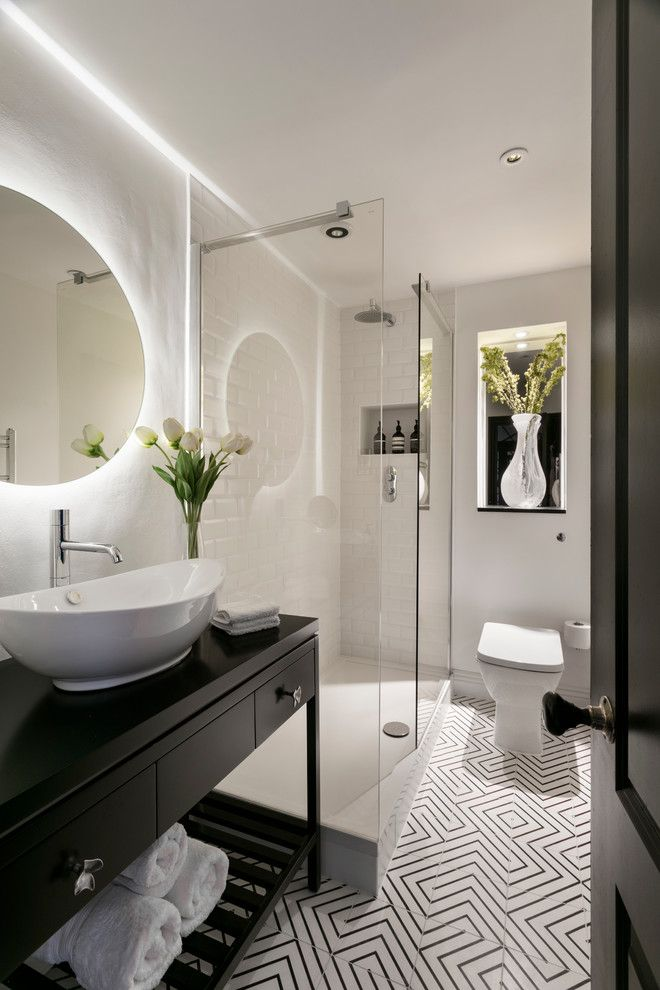 Installing Bathroom Fan for a Contemporary Bathroom with a Upscale Bathroom and Little Venice by Shanade Mcallister Fisher