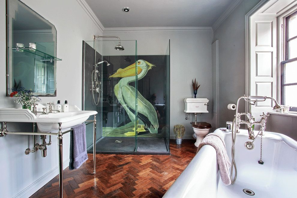 Installing Bathroom Fan for a Eclectic Bathroom with a Classic Bathroom and Drummonds Case Study: Shooting Lodge, Scotland by Drummonds Bathrooms