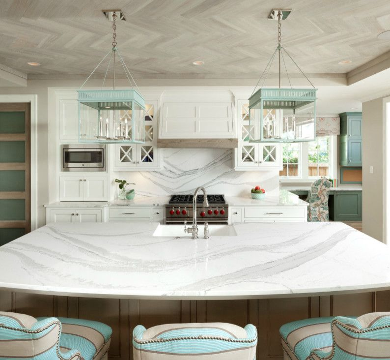 Installing Laminate Countertops for a  Kitchen with a White Countertop and Asid 2015 by Cambria