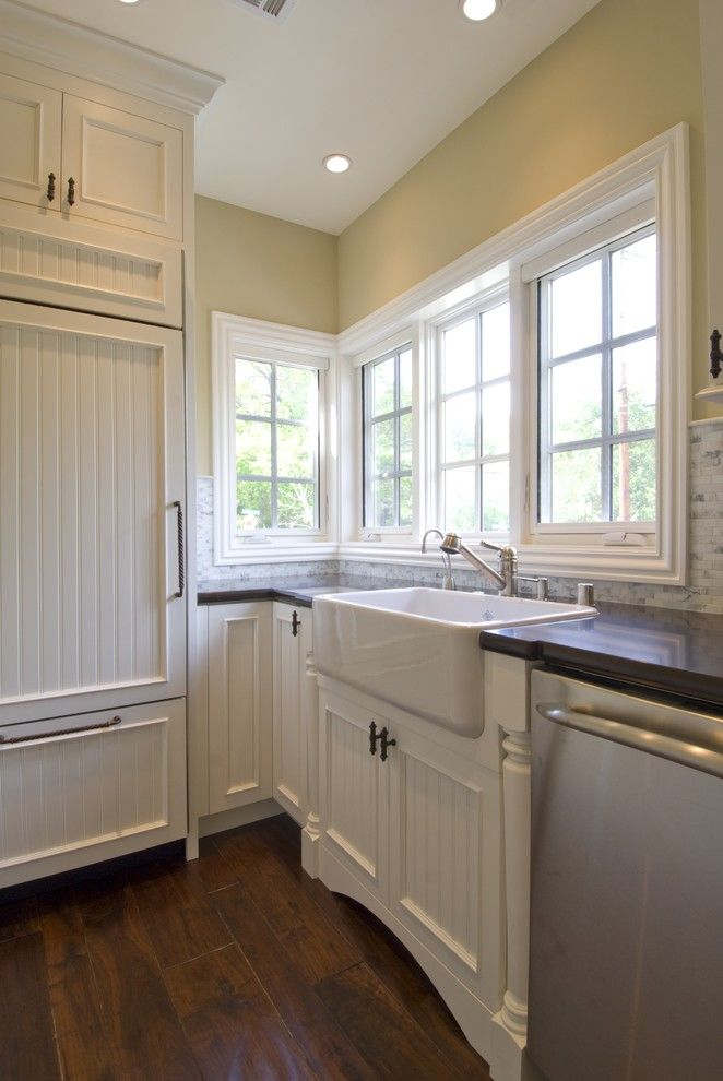 Installing Laminate Countertops for a Traditional Kitchen with a Beadboard and Design Savvy by Design Savvy