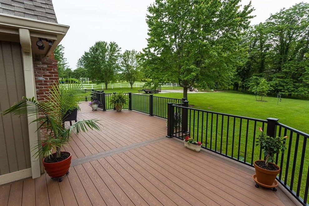Inteplast for a Traditional Deck with a Brick Chimney and Beautiful Decks by Creative Concepts & Design, Llc
